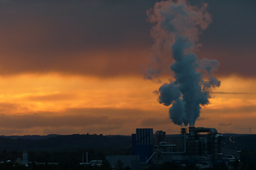 Air Pollution from Industry Plant