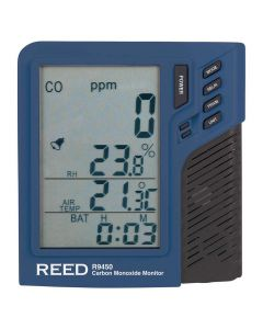 REED R9450 Carbon Monoxide Monitor with Temperature and Humidity | The Measurement Shop UK