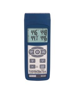 REED SD-947 SD Series 4-Channel Thermocouple Thermometer | The Measurement Shop UK