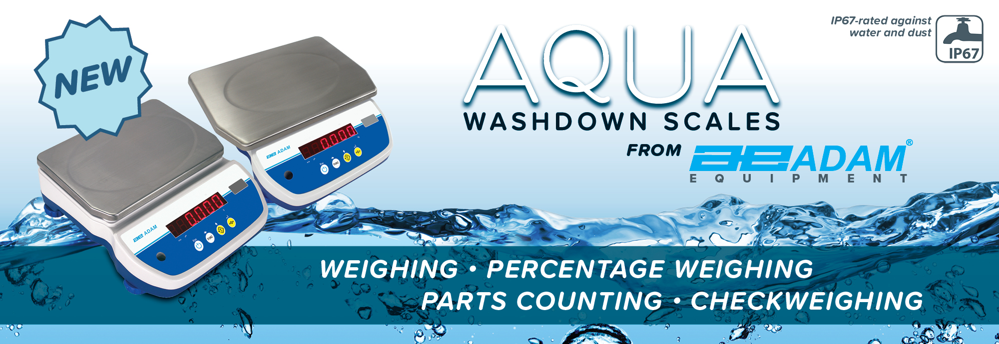 Wash Down Bench Scale Aqua from Adam Equipment
