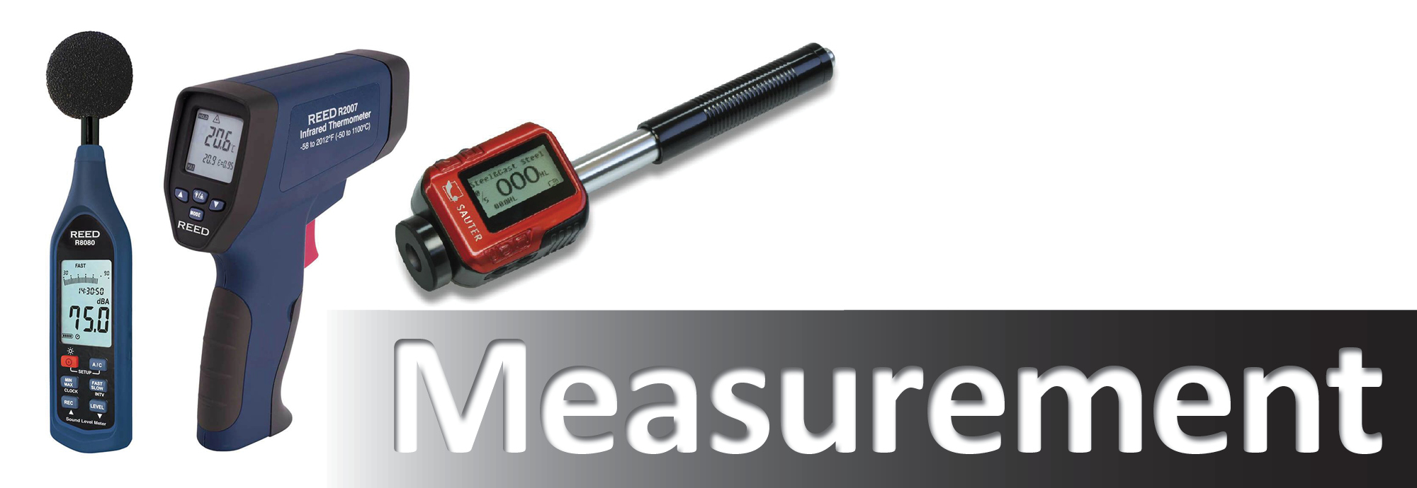 Various types of measurement covered from Air to sound